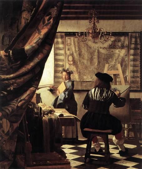 Johannes Vermeer. El arte de la pintura. ca.1666. Museo de Historia del Arte de Viena.