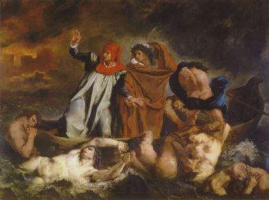Delacroix. Virgilio y Dante en los infiernos. 1822. Museo del Louvre
