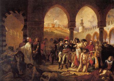 Antoine Gros. Bonaparte visitando a los apestados de Jaffa, 1804, Museo del Louvre
