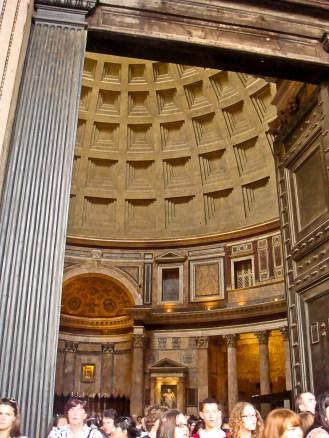 Vista del interior del Panteón de Roma