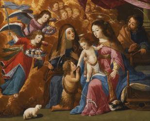 Josefa de Óbidos. Sagrada familia con Santa Isabel y San Juanito.