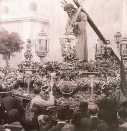 Jesús del Gran Poder en procesión. foto antigua