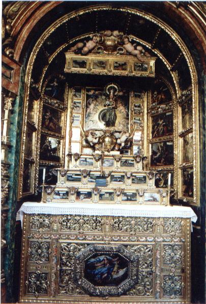 Retablo de Nuestra Sra. de Guadalupe. Claustro alto de las Descalzas Reales. Madrid