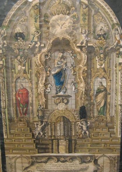 Minguet (grabador). Retablo de la Virgen del Buen Consejo.