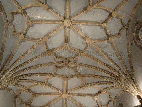 Boveda de la capilla del sagrario de la catedral de Badajoz. Foto: Monumentod de badajoz [http://www.monumentosdebadajoz.es/catedralint.htm]
