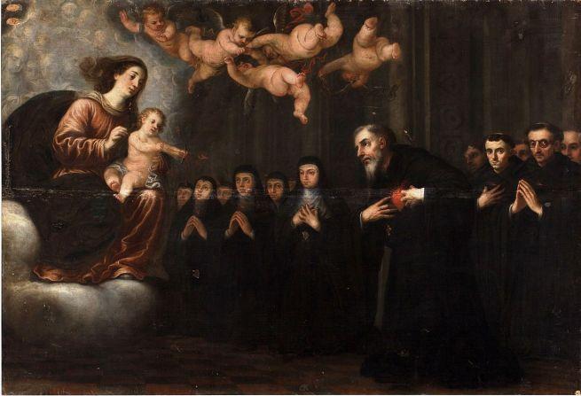 Virgen transverberando el corazón a S. Agustín. Museo del Prado