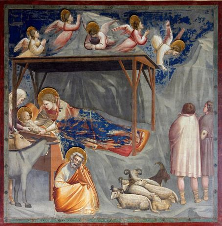 Giotto. Nacimiento de Cristo. ca. 1305. Capilla Scrovegni. Padua. Foto: wikicommons.