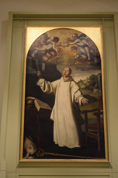 Francisco de Zurbarán. San bruno. Cuadro principal del retablo de la Cartuja de Jerez. Museo de Cádiz. Foto: Cipripedia.