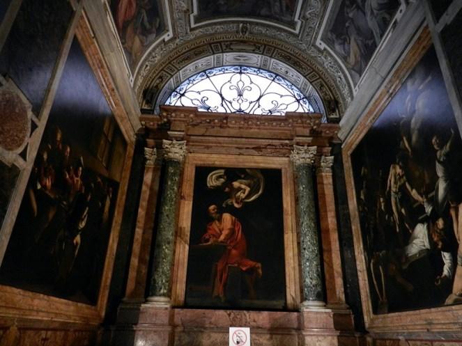 Capilla contarelli en San Luis de los Franceses. Roma. Foto: wikicommons