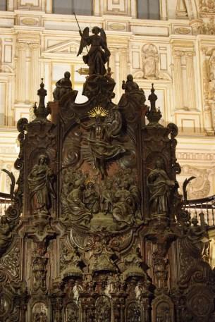 Pedro Duque Cornejo. Coro de la Catedral de Córdoba. Detalle del grupo central.