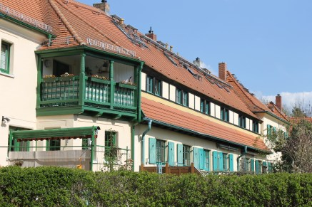 View of the houses within the garden city of Hellerau.