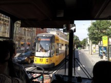 going by tram in Dresden