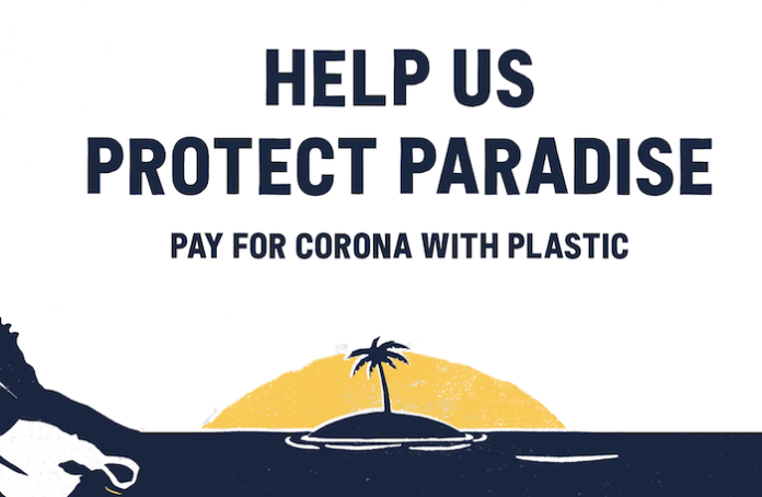 Successful Brand Awareness Campaign Examples - Corona Pay With Plastic