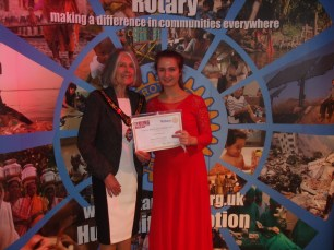 The winning RYM instrumentalist, Cristina Dimitrova, with the Mayor of Taunton Deane. Cristina is supported by The Rotary Club of Mendip and goes on to the National Final in Cardiff on 6 May