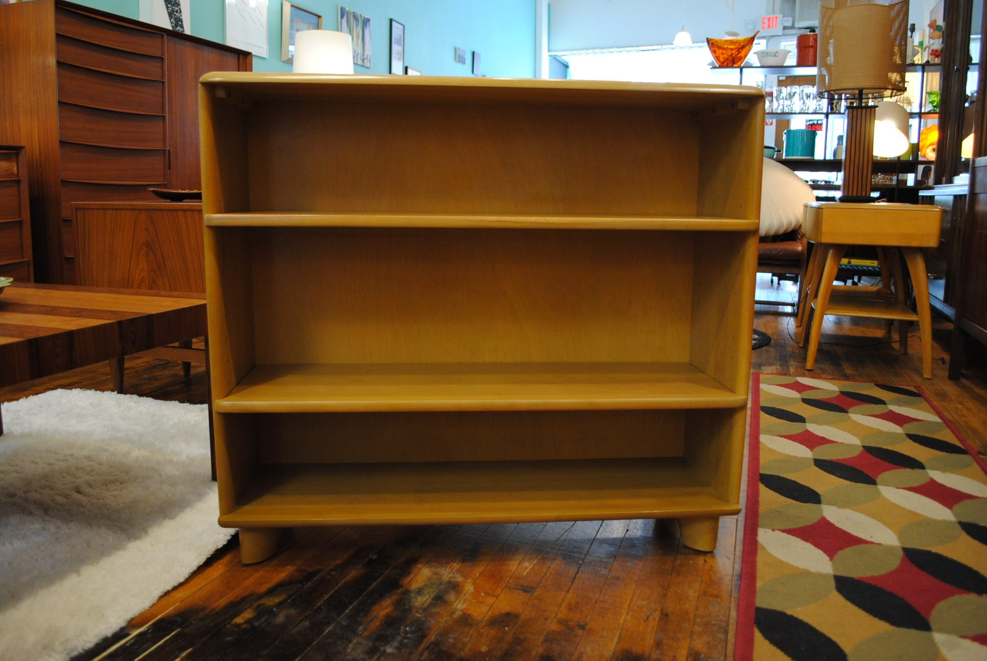sinclair maple sided tortuga double bookcase shelves