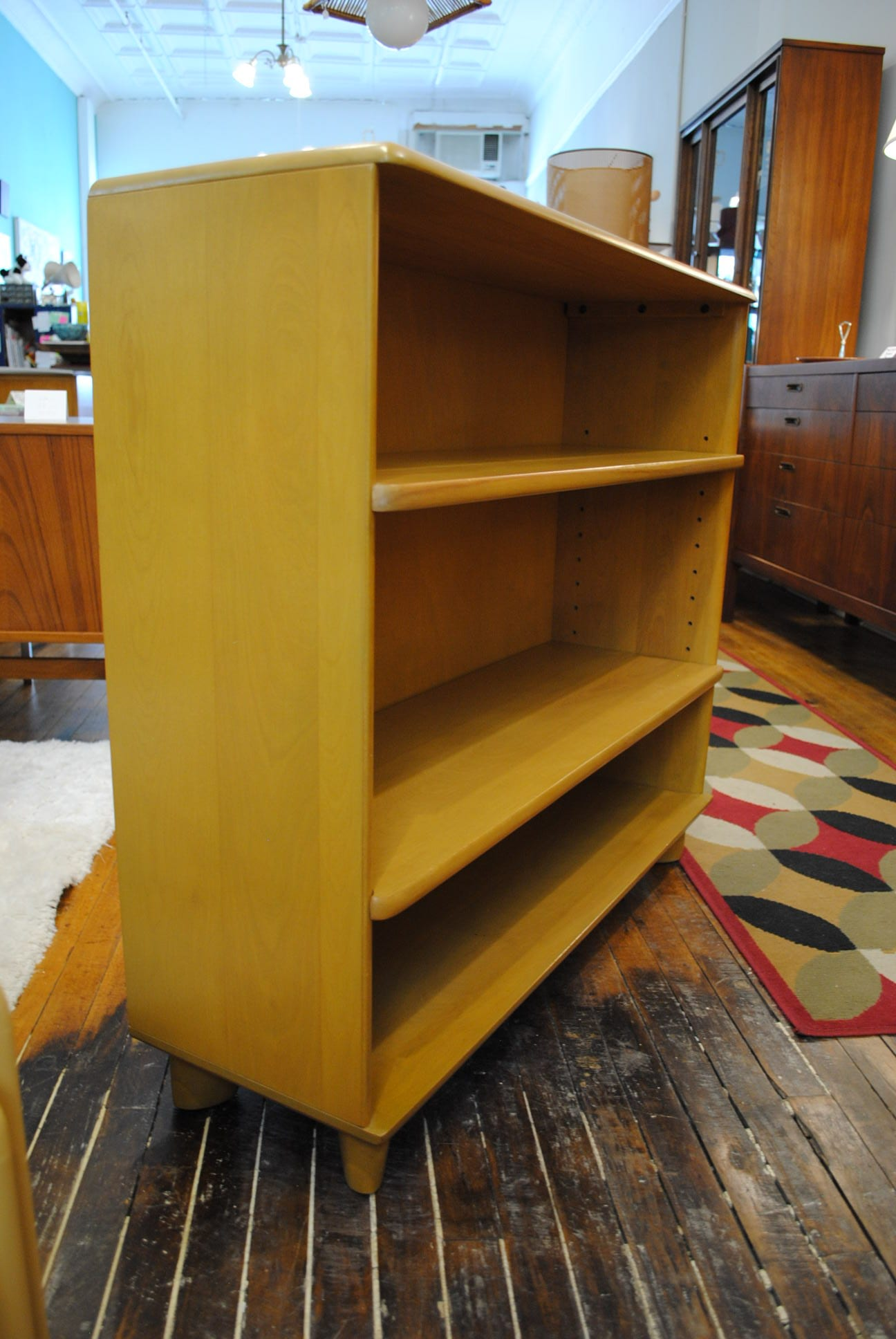 theme wall retro amish with pid maple piece unit tuscany bookcase plus doors