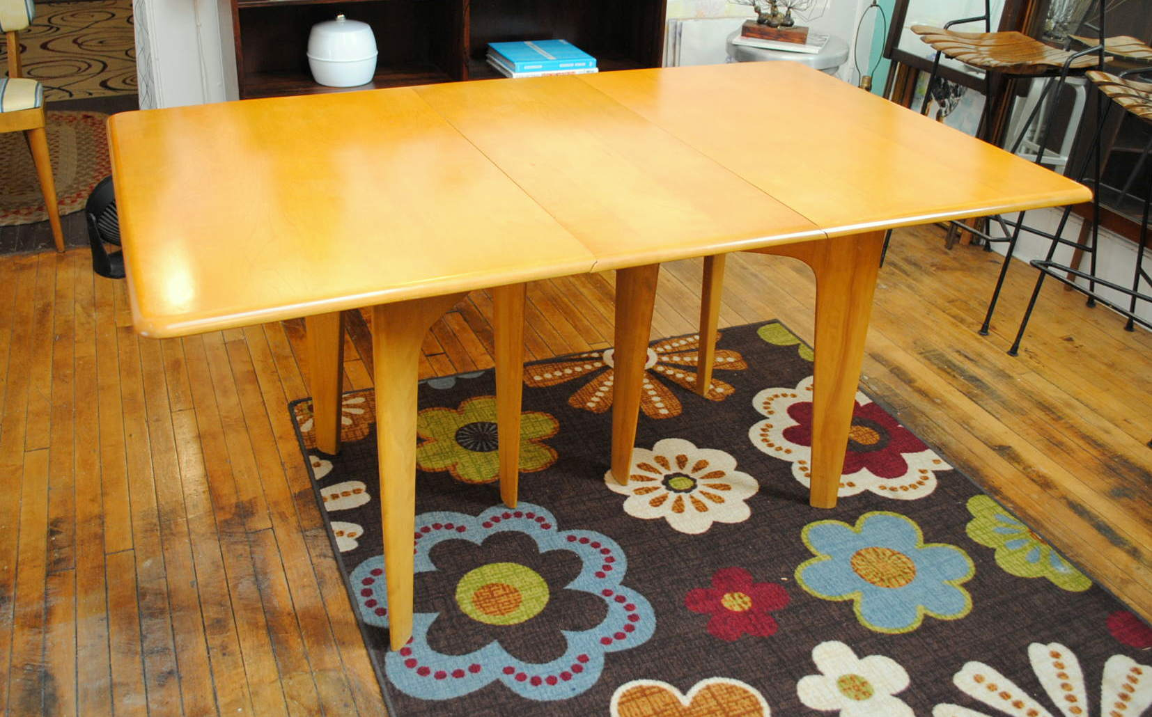 1950u0027s Heywood Wakefield Drop Leaf Dining Table