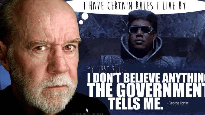 George Carlin Ron Paul George Orwell