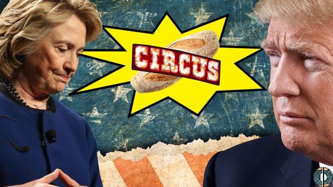 trump clinton bread circus