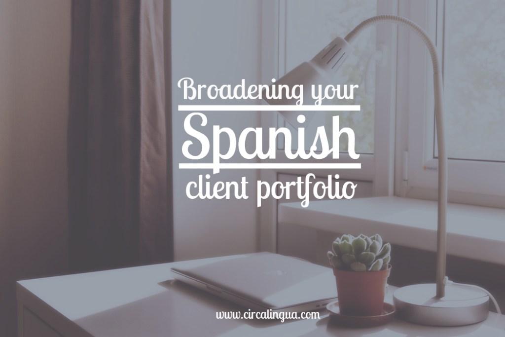 Spanish client portfolio