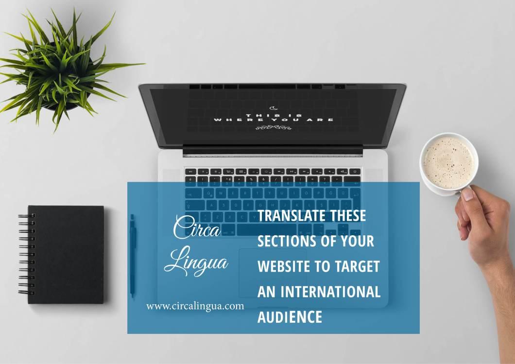 target an international audience