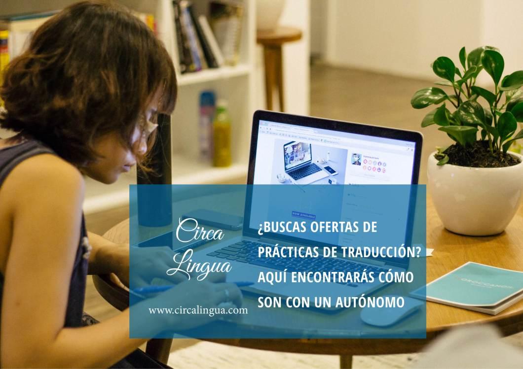 ofertas de prácticas de traducción