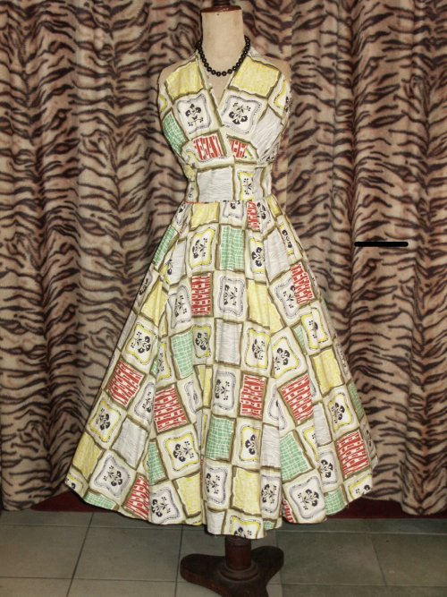 Frock of the Day: 1950s halterneck