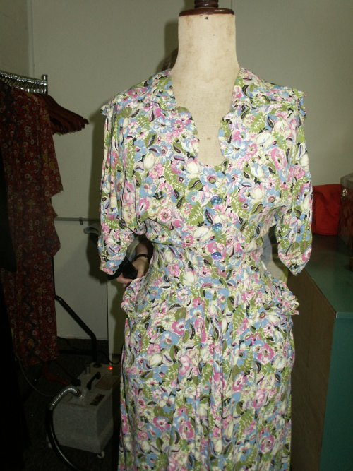 30s floral crepe frock
