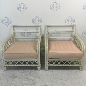 Pair of Ficks Reed Lounge Chairs