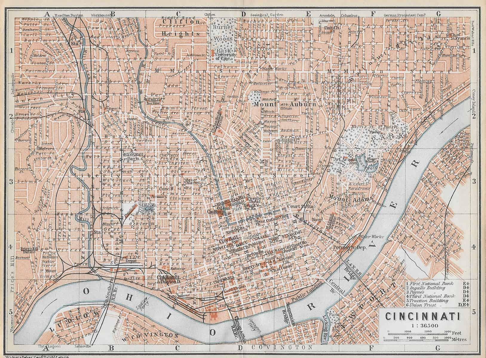 1105 Cincinnati, 1909 – Circle 7 Framing on