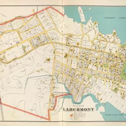 antique larchmont map