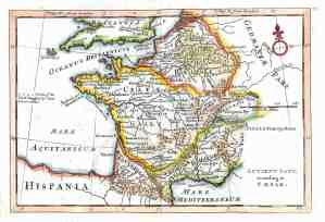 antique map france