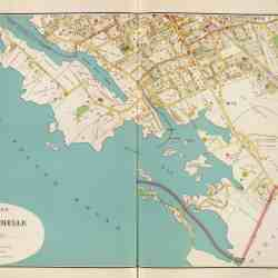 antique map new rochelle