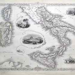#1399 southern italy tallis 1851