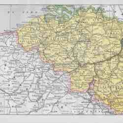 Map Of Germany Netherlands And Belgium.Germany Holland Belgium Circle 7 Framing