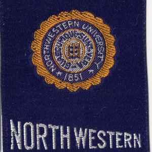 #2688 Northwestern University tobacco silk, 1910