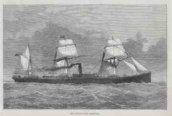 #1246 Steamer Lake Champlain 1875