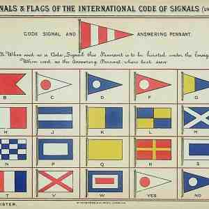 #5318 Pilot Signals & Flags of the International Code of Signals, 1895/6