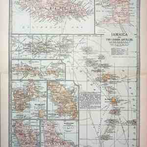 #4379 Jamaica and Caribbean Islands, 1903
