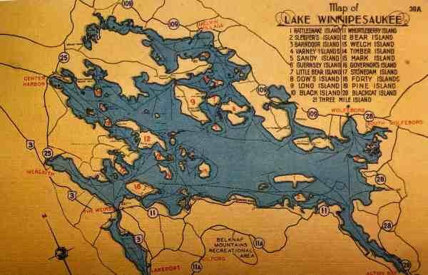 #4621 Lake Winnipesaukee 1940s