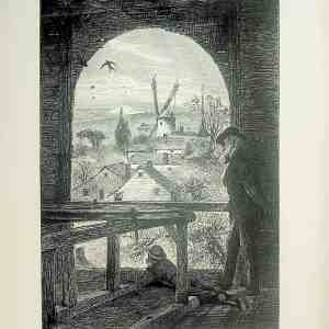 #5179 East Hampton, from Church Belfry 1874