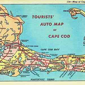 #5575 Tourists' Auto Map of Cape Cod, ca1930s