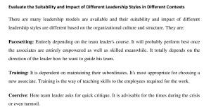 different leadership styles