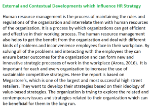 External and Contextual Developments Influence HR Strategy