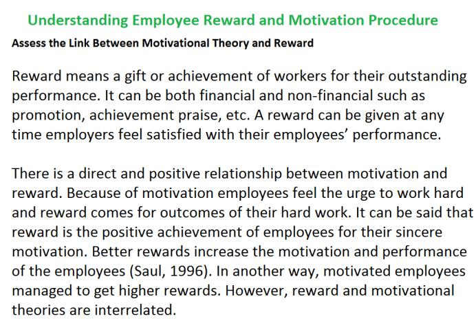 Understanding Employee Reward and Motivation Procedure