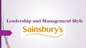 Sainsbury Plc Leadership and Management Style