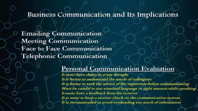 Business Communication and Its Implications