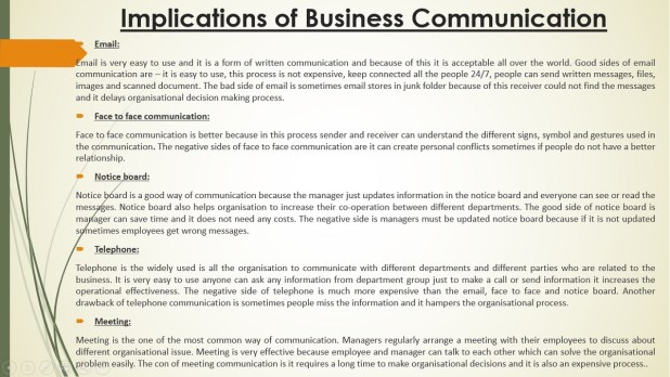 Implications of Business Communication