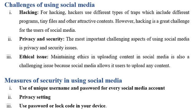 Challenges of using social media