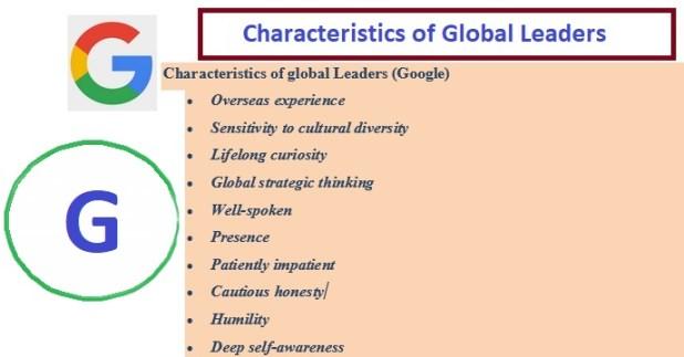 Characteristics of Global Leaders
